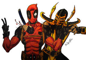 Deadpool Vs Scorpion by MikeES