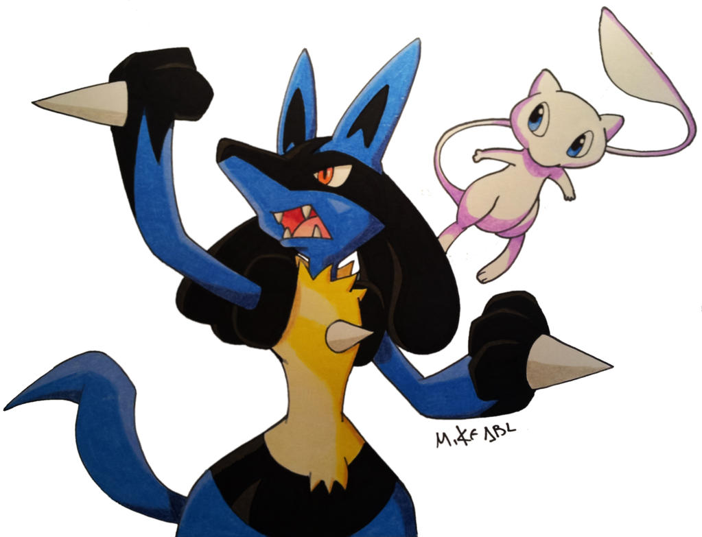 Lucario and Mew by MikeES on DeviantArt Mew And Lucario