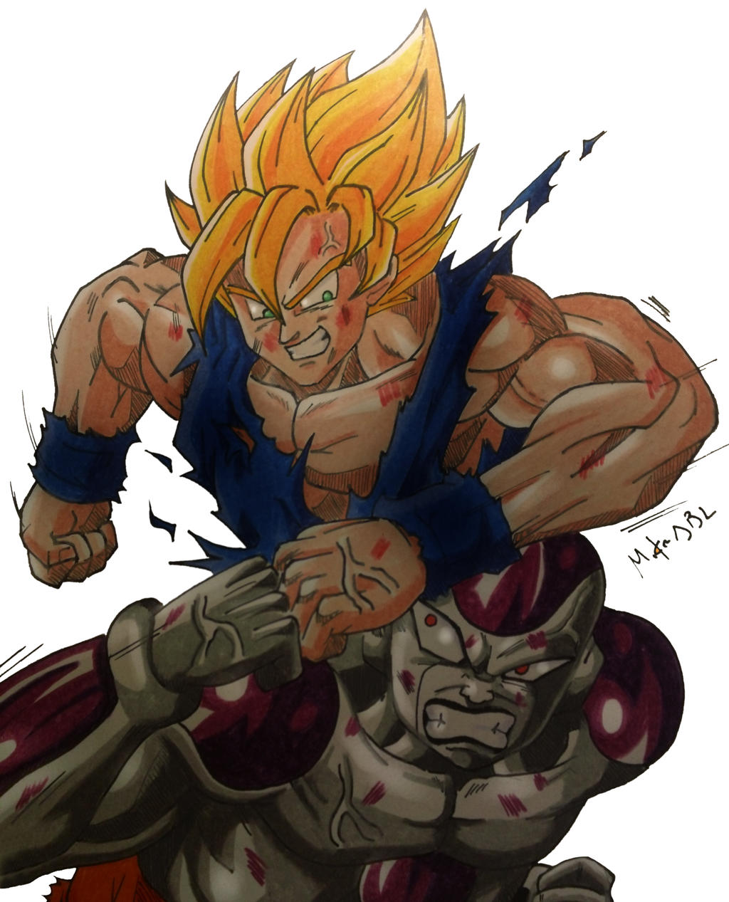 Goku vs freezer by mikees on deviantart for Freezer piccolo