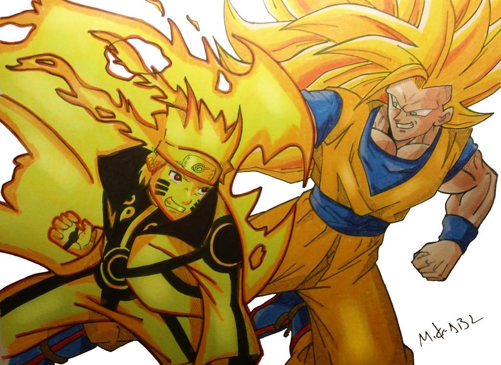 Naruto Vs Goku by MikeES on DeviantArt