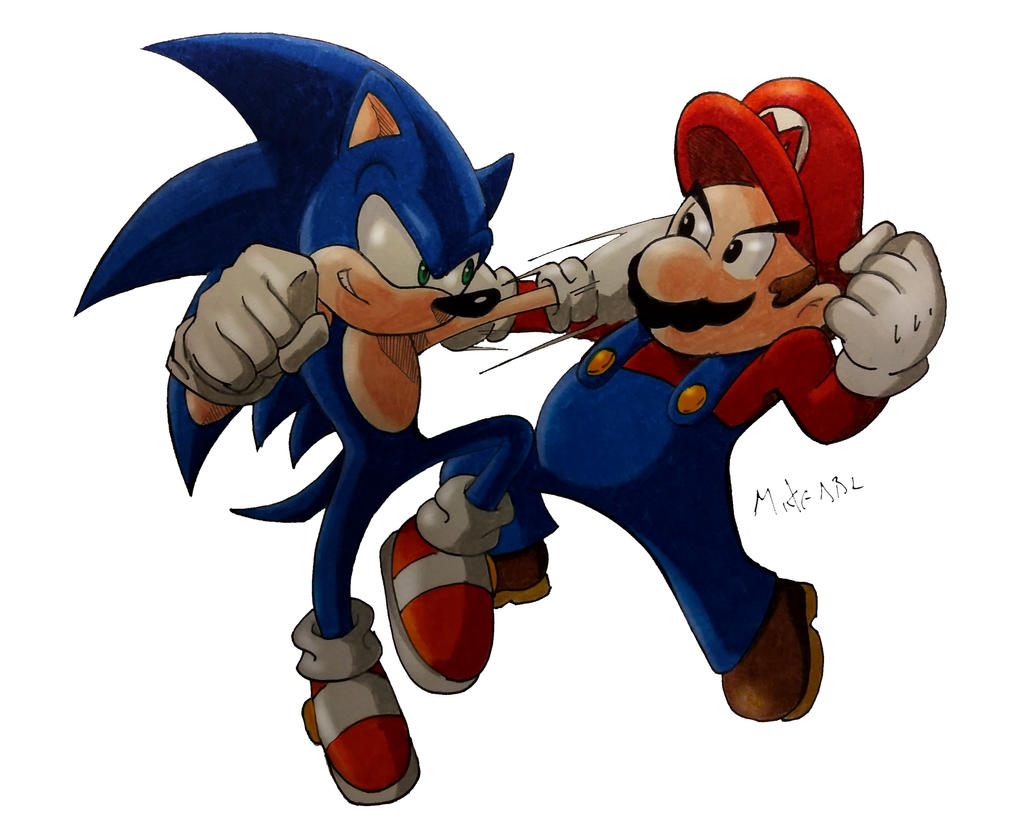 Mario Vs Sonic by MikeES on DeviantArt