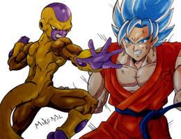 Goku Vs Freezer by MikeES