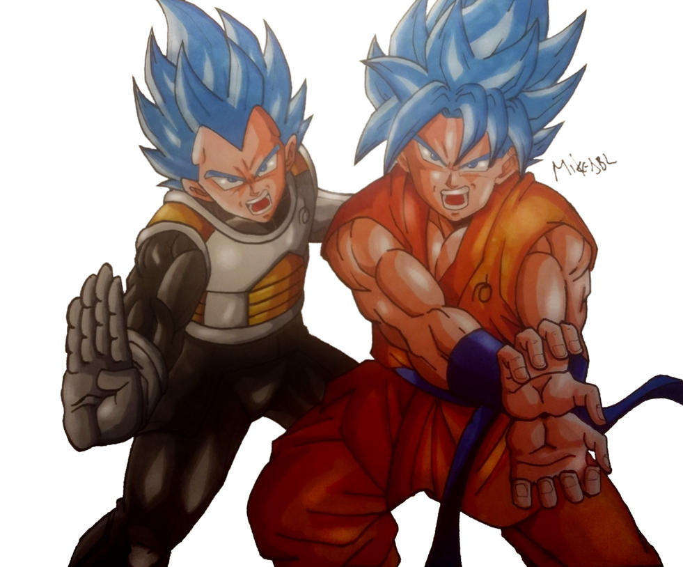Goku and Vegeta by MikeES
