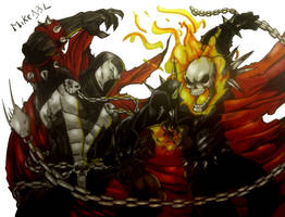 Ghost Rider Vs Spawn by MikeES
