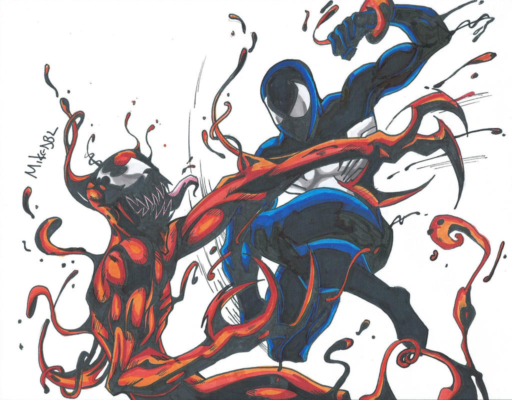 Black Suit Spiderman Vs Carnage Scan by MikeES on DeviantArt