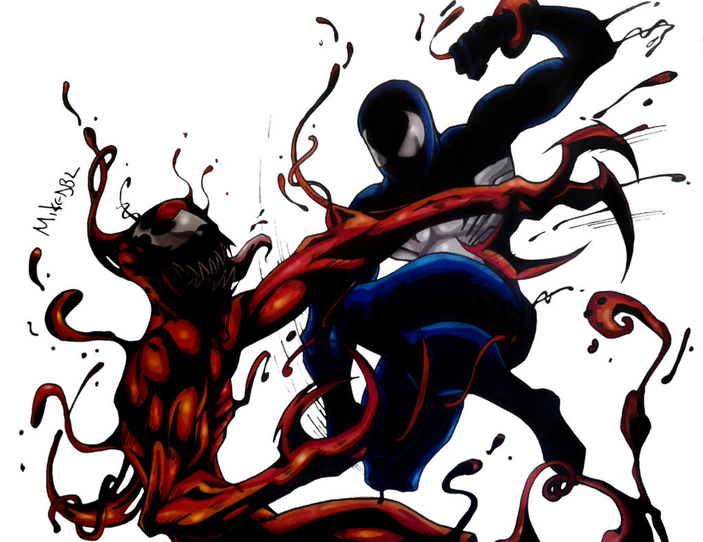Black Suit Spiderman Vs Carnage Color (Final) by MikeES on ...