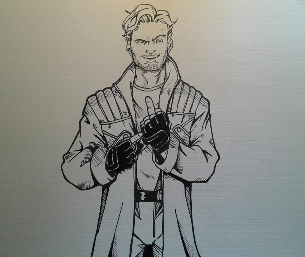 Star Lord And Rocket Raccoon By Timothygreenii On Deviantart: Star Lord Inks By MikeES On DeviantArt