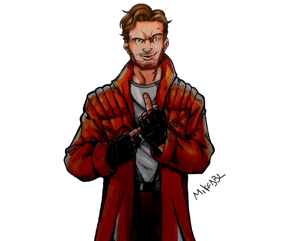 Star Lord And Rocket Raccoon By Timothygreenii On Deviantart: Star Lord Color (Final) By MikeES On DeviantArt