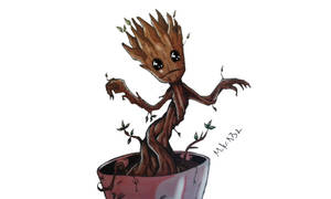 Little Groot by MikeES