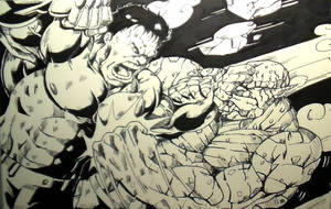 Hulk Vs Abomination Inks by MikeES