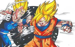 Goku Vs Majin Vegeta Scan by MikeES