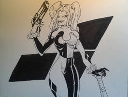 Harley Quinn Inks by MikeES