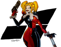 Harley Quinn Colors (Final) by MikeES