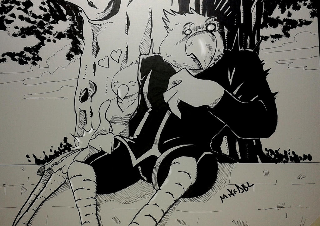 Inktober 2017 No.7 Shy by MikeES