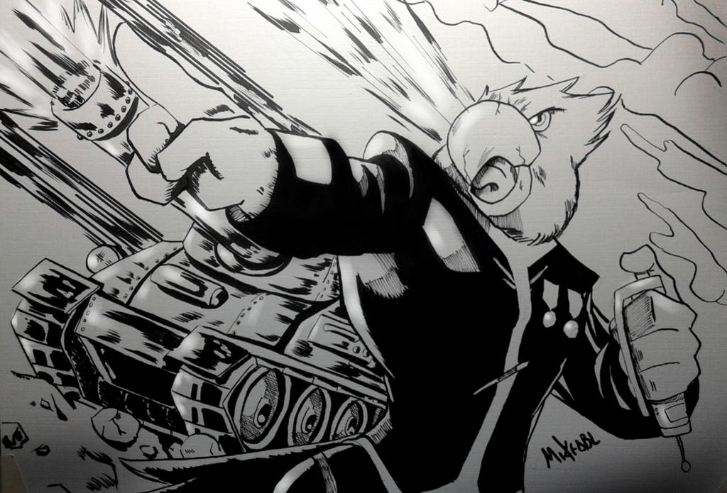 Inktober 2017 No.9 Screech by MikeES
