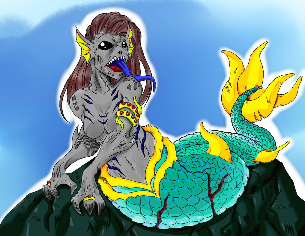 A Siren... my very first digital drawing by MikeES