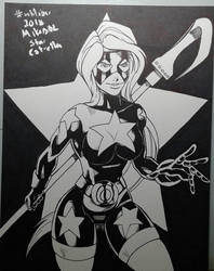 Inktober 2018 No.8 Star by MikeES