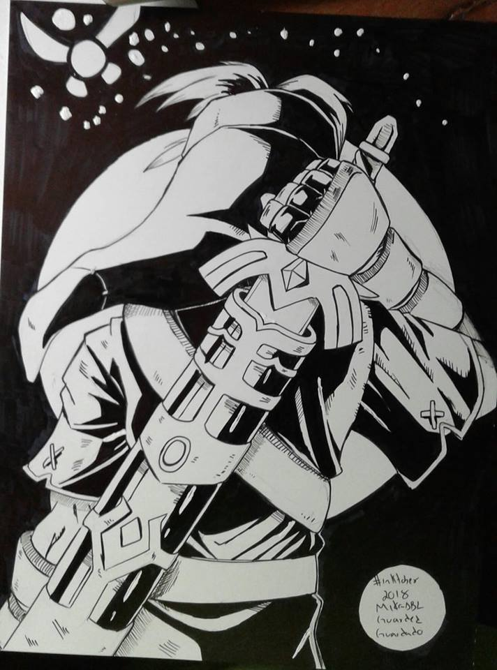 Inktober 2018 No.13 Guarded by MikeES