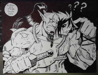 Inktober 2018 No.29 Double by MikeES