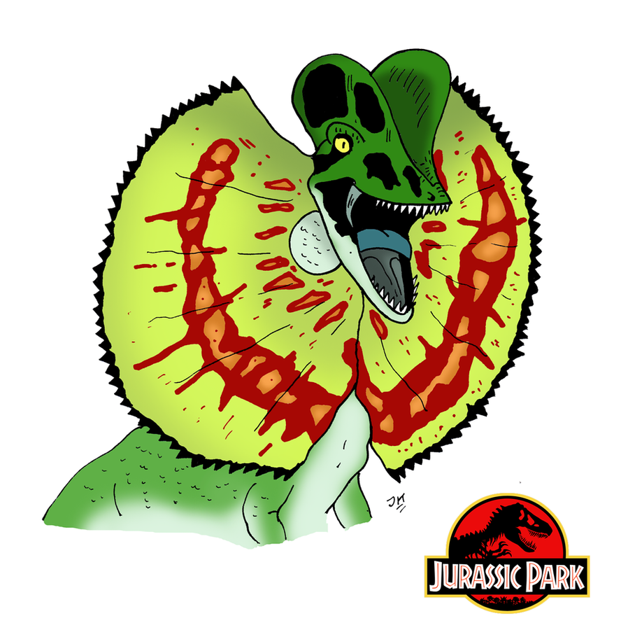 Dilophosaurus by JohnnyFive81