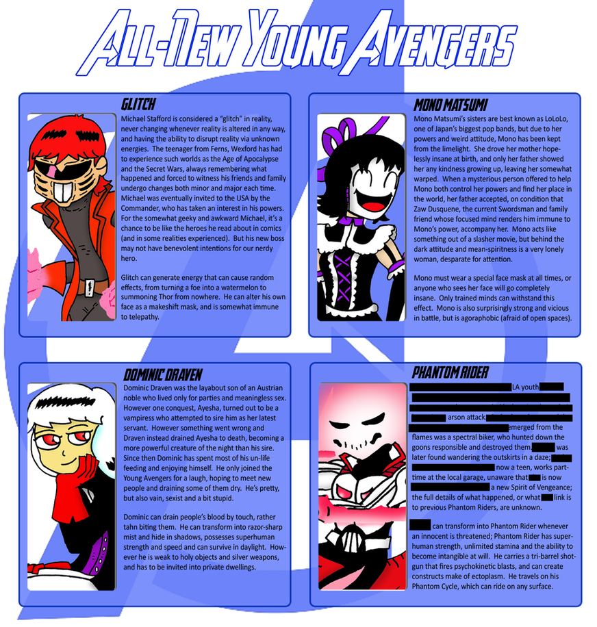 Young Avengers Pt 1 by JohnnyFive81