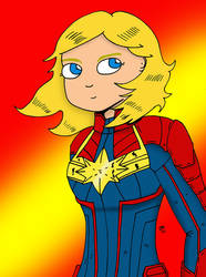 Captain Marvel by JohnnyFive81