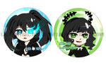 Black Rock Shooter Keychains by lehanilee