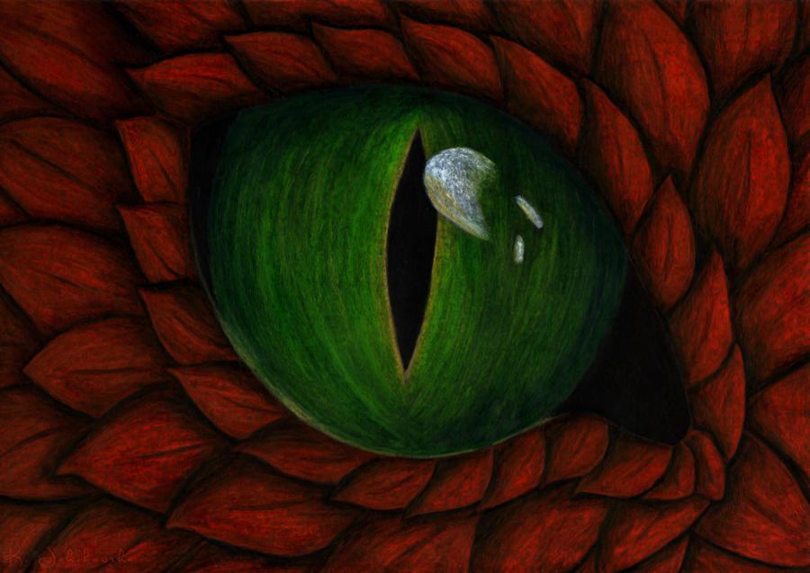 Dragon eye by KarolinaJakubowska