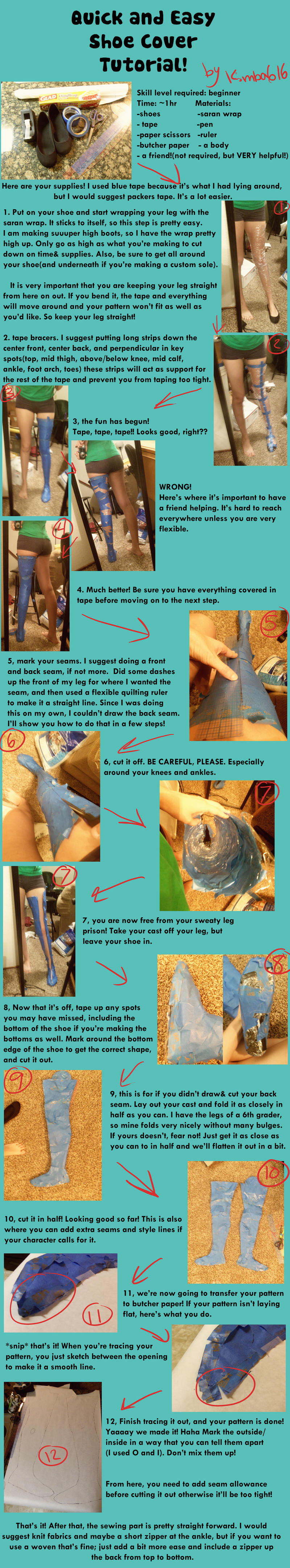 Quick and Easy Cosplay Boot Cover Tutorial by Kimba616 on DeviantArt
