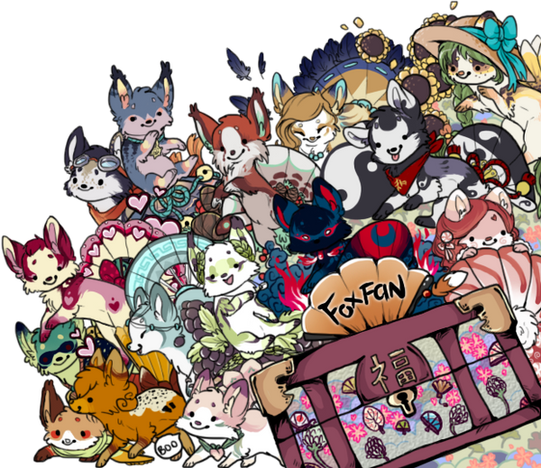 [CONTEST ENTRY] ~ chibi foxfan ATTACK! by Sableu
