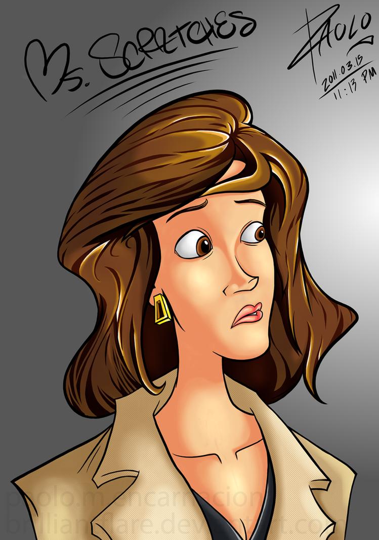 Ms. Scratches Portrait by brilliantflare