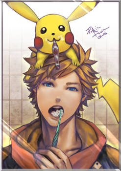 Pokemon Go - tooth-brushing time.