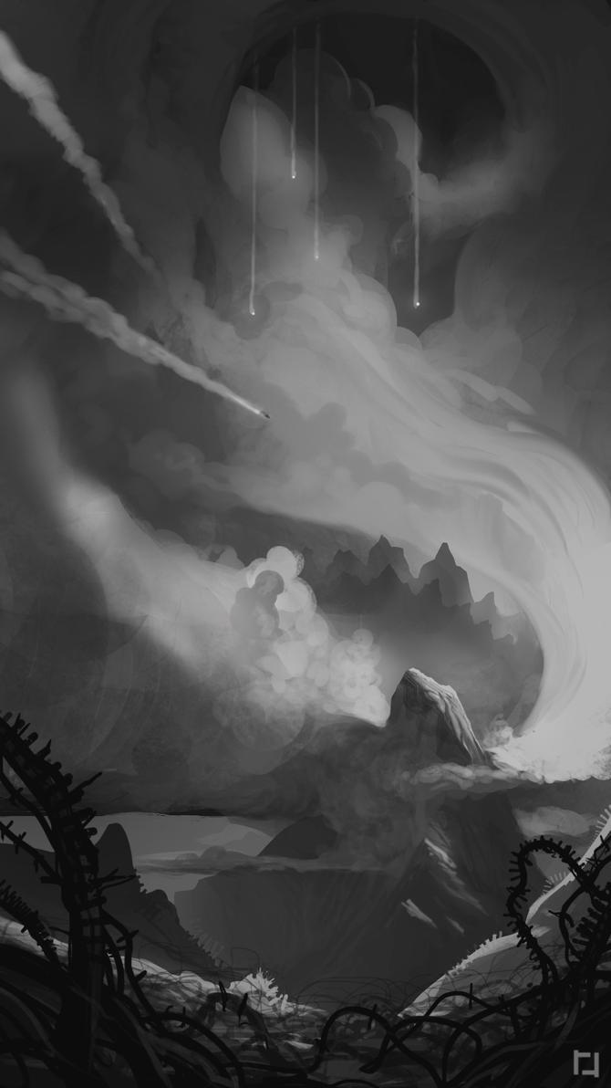 Godzilla Sketch by RyanRichmondArt