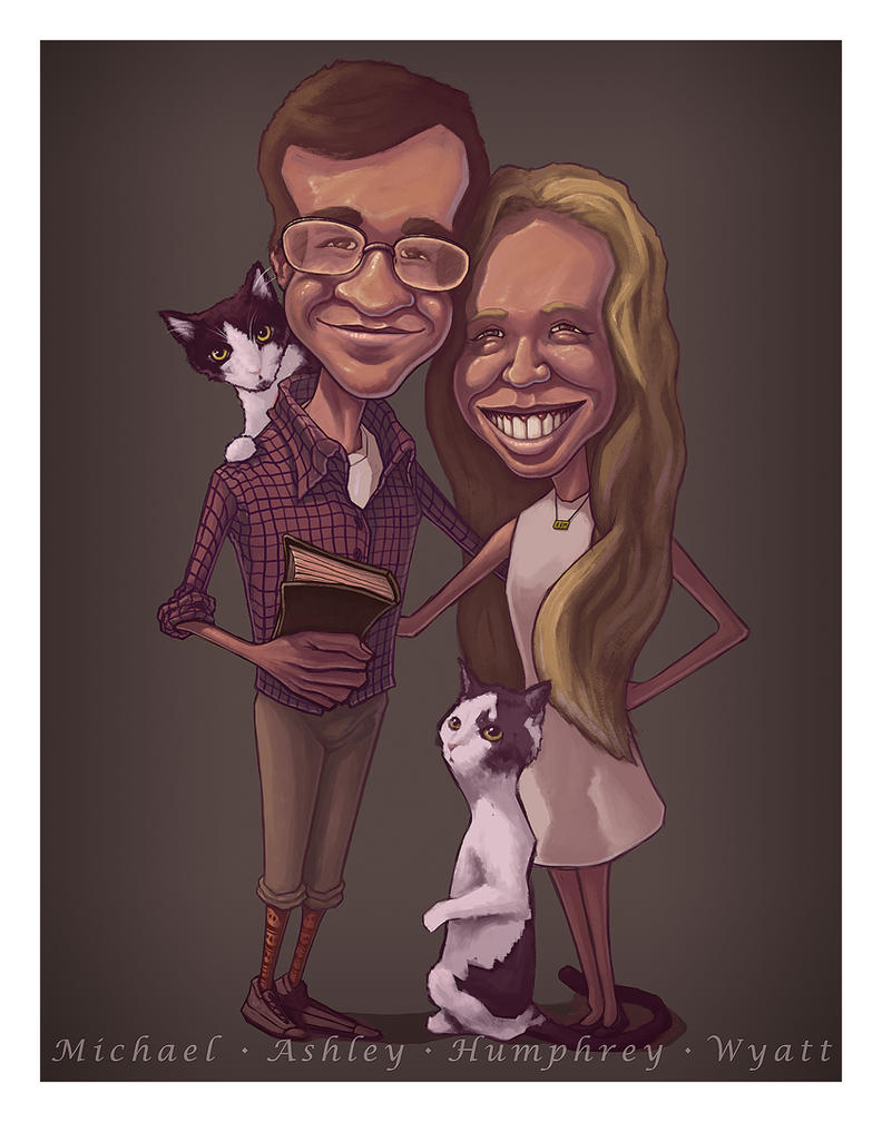 Family Caricature Portrait by RyanRichmondArt
