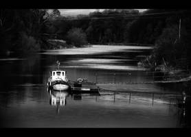Down the Wear - BW by Wayman