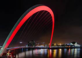 The Millenium Bridge - Pano by Wayman