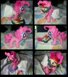 Mardi Gras Pinky Pie plush by Texalma