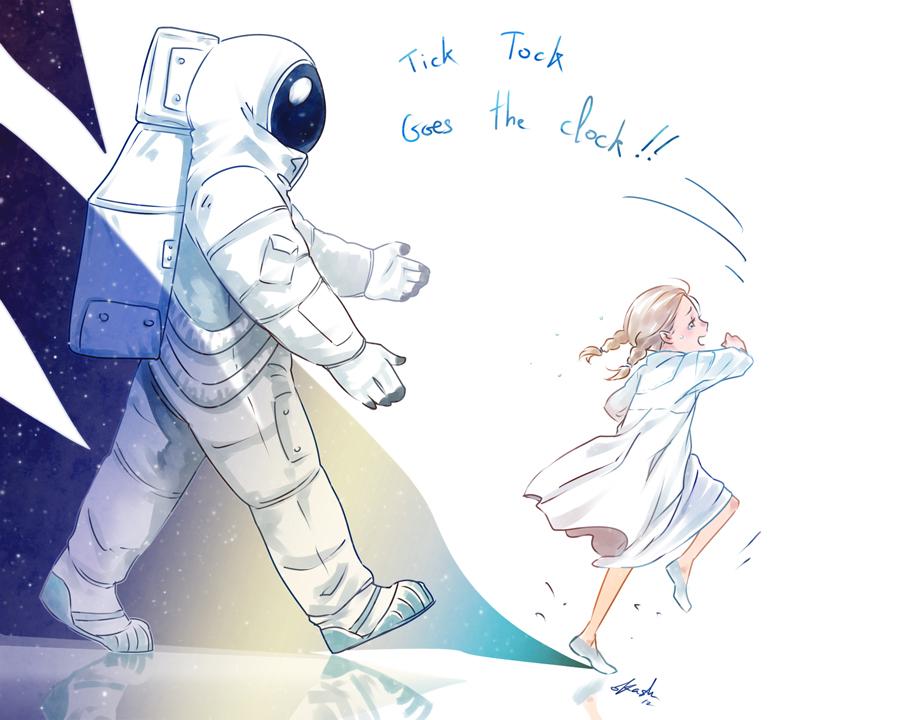 Spacesuit pursuit by oKaShira2