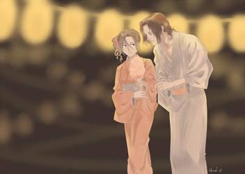 Amon and Robin Matsuri by oKaShira2