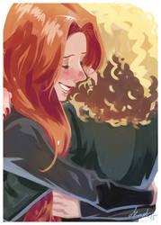 Hug Amy and River