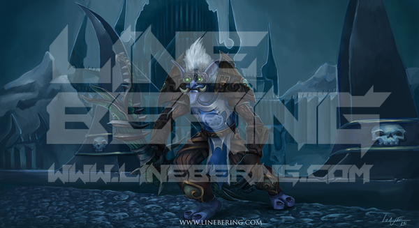 Troll Hunter Zedarus exploring ICC. (Commission) by Bering