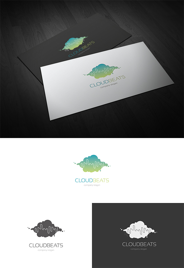 Cloud Beats Logo Design by Resetblue