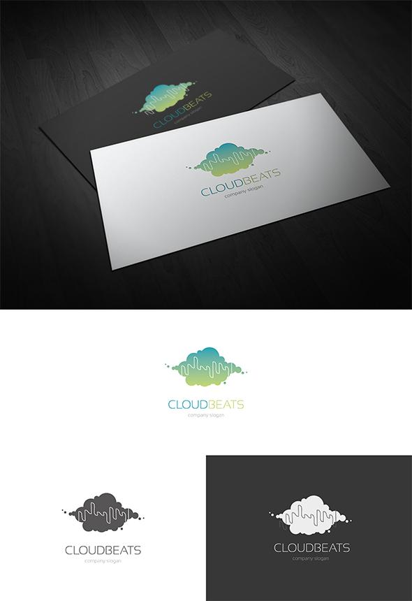 Cloud Beats Logo Design by Resetblue