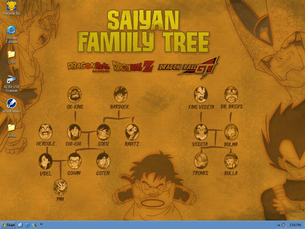saiyan family tree desktop by dweed52889 on deviantart