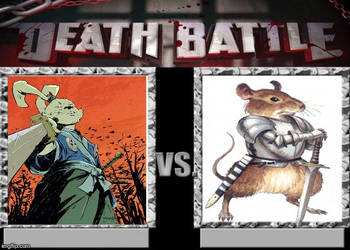 Miyamoto Usagi (Usagi Yojimbo) vs Martin (Redwall) by masterofhorr