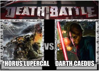 Horus Lupercal (Warhammer40k) vs Darth Caedus (EU) by masterofhorr