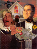 American Gothic 2 (Blair and Bush) by yabanji