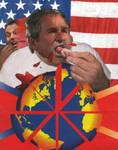 Bush n' Blair Global Pizza by yabanji