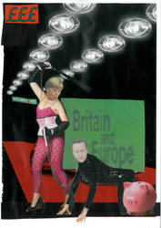 MERKEL AND CAMERON THRASH IT OUT by yabanji