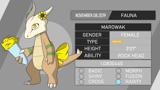 [ PKMNation ] Fauna the Marowak